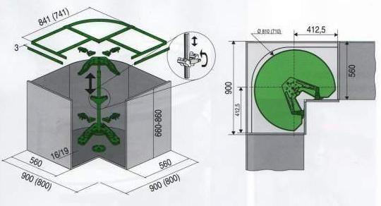 Sarokszekrény vasalás, Revo 90° - Stanley termékek, konyhai ...