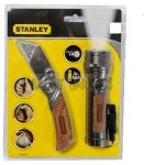 Stanley 0-10-074 Fabetétes kés + elemlámpa