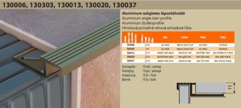 Alu szögletes lépcsőélvédő 45205
