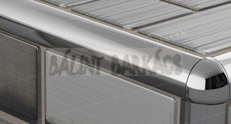 Rozsdamentes acél íves élvédő 45252