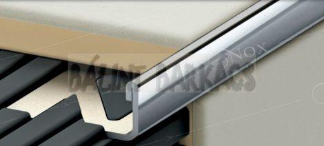 Szögletes élvédő, rozsdamentes inox 45561