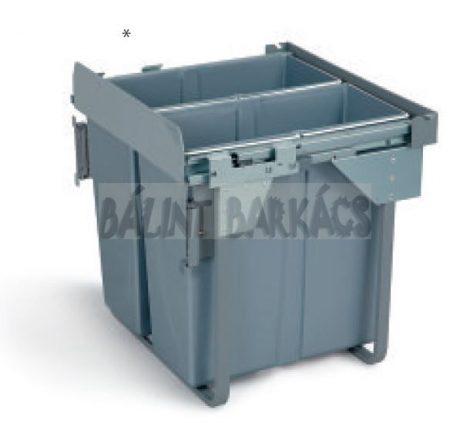 Kihúzható fékes szelektív hulladékgyűjtő 60cm 2×34